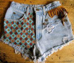 NAVAJO denim shorts