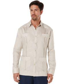 7196f3dfc7b Cubavera 100% Linen Long Sleeve Guayabera Shirt
