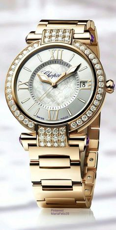 Diamond Watches Ideas : Chopard Diamonds Imperiale timepiece - Watches Topia - Watches: Best Lists, Trends & the Latest Styles Luxury Watches, Rolex Watches, Diamond Watches, Elegant Watches, Beautiful Watches, Cool Watches, Watches For Men, Wrist Watches, Ladies Watches