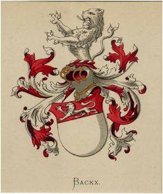 Wapen van de familie Backx. #heraldiek #genealogie
