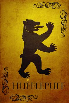 Harry Potter Hogwarts House Banner Hufflepuff Stretched Canvas