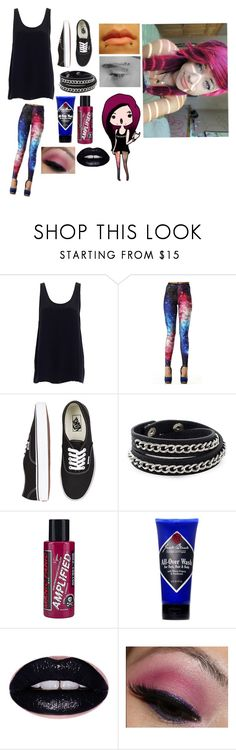 """""""Hardcore"""" by jynxxed ❤ liked on Polyvore featuring Vans, Oxxo, Manic Panic NYC and Jack Black"""
