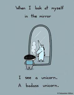badass unicorn this is so Lizette