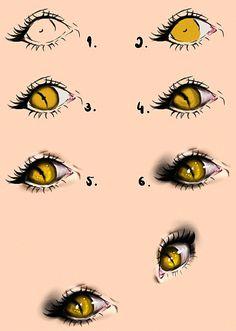 Cat Eyes - Tutorial by Kipichuu.deviantart.com on @deviantART