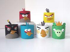 cardboard tube angry birds