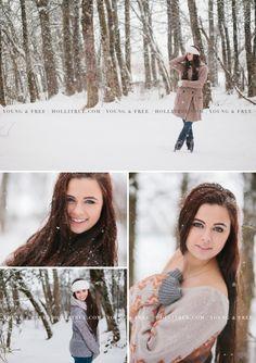 Oregon Senior Portrait Photographer, Holli True, photographs Class of 2014 high school senior, Grace, in the snow in Eugene.