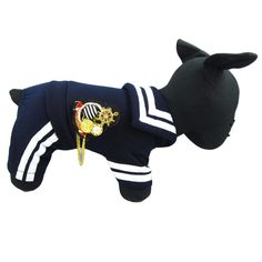 Alfie Couture Designer Pet Apparel - Frank Sailor Jumper - Color: Navy ** See this great product.