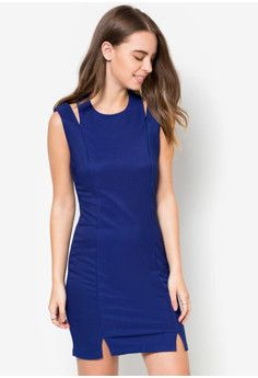 Something Borrowed Slit Fitted Dress #onlineshop #onlineshopping #lazadaphilippines #lazada #zaloraphilippines #zalora