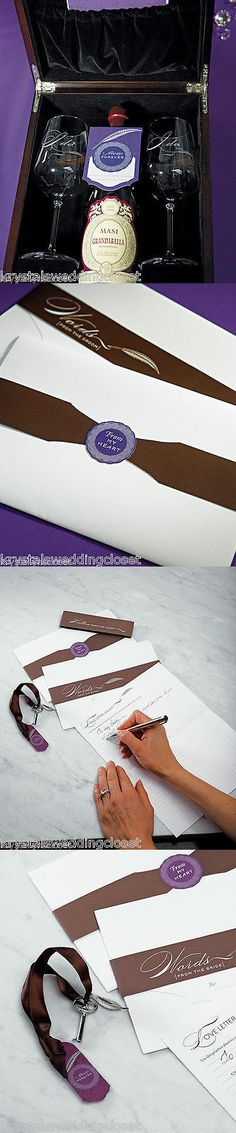 Other Wedding Supplies 3268: Love Letter Unity Ceremony Wine Box Set Keepsake -> BUY IT NOW ONLY: $78.5 on eBay!