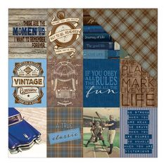 Authentique Paper - Rugged Eight Cards/Diamond Plaid