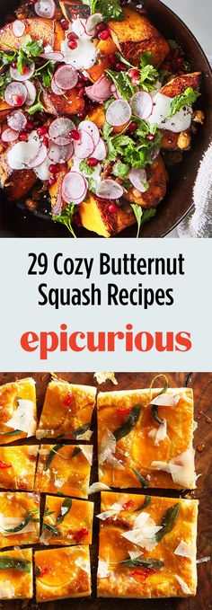 29 Butternut Squash Recipes for Salads, Sides, Soups, Pastas, and Vegetarian Breakfast, Vegetarian Recipes Dinner, Salad Recipes, Healthy Recipes, Healthy Food, Best Vegetable Recipes, Side Dishes Easy, Butternut Squash, Soups