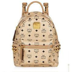 MCM Bebe Boo Backpack ($570) ❤ liked on Polyvore featuring bags, backpacks, mini rucksack, crossbody bags, miniature backpack, day pack backpack and mini crossbody bag