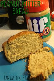 Peanut Butter Bread - perfect with some jelly or Nutella #bread #peanutbutter