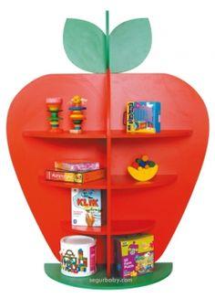 Biblioteca escolar expositor de libros Fresa