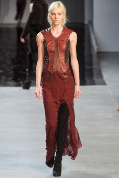 Helmut Lang Fall 2012 Ready-to-Wear Fashion Show - Kati Nescher
