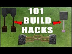 101 MINECRAFT BUILD HACKS - YouTube