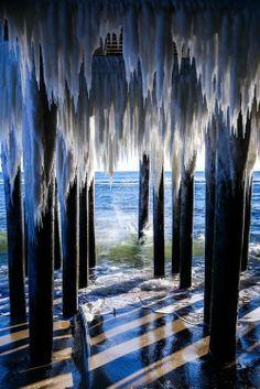 ✯ NEW JERSEY: Icy Pier, Atlantic City, New Jersey