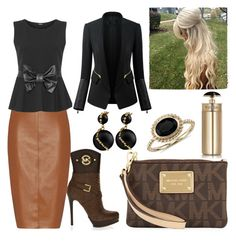 """""""#D$"""" by kivericdamira ❤ liked on Polyvore featuring MICHAEL Michael Kors, Bailey 44, WearAll, Chicsense, Blue Nile and Prada"""