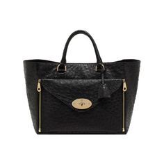 New Willow Colours - Mulberry - Willow Tote in Black Ostrich With Soft Gold Mulberry Purse, Custom Purses, Real Leather, Leather Handbags, Purses And Bags, Satchel, Tote Bag, Clutch Bag, Shoulder Bag