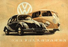 Der Volkswagen.