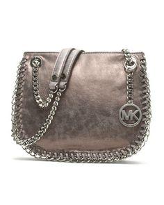 MICHAEL Michael Kors  Small Chelsea Metallic Messenger. $278