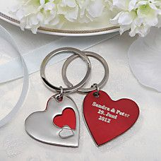 Personalized Heart Theme Keyrings (Set of 4) - EUR € 6.59