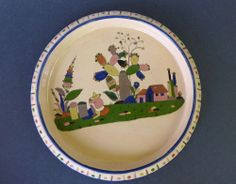"""Old vintage Mexican Tlaquepaque plate charger 14 1/2"""" diam."""