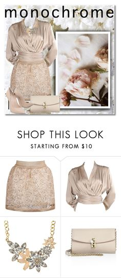 """""""One Color, Head to Toe"""" by istrijana ❤ liked on Polyvore featuring Bellagio, Yves Saint Laurent, Dolce&Gabbana, Casadei and monochrome"""