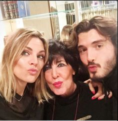 Amaia Salamanca, Concha Velaasco, and Yon Gonzalez promoting the re-airing of the Gran Hotel.