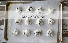 Coconut Chocolate Chip Macaroons - made these tonight. Easy, fast, delicious.