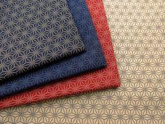 ▲和柄 - 商品詳細 和調プリント 麻型 112cm巾  綿100%/生地の専門店 布もよう