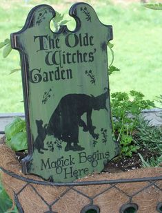 Olde Witches' Garden Tavern Board Sign/Wiccan/Garden Sign/Herb Garden Sign