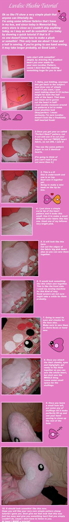 Luvdisc Plush Tutorial by saiyamewome on deviantART