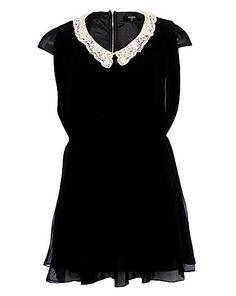 Koko Crochet Collar Pleat Dress | Simply Be