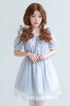 Japanese sweet lolita bowknot gauze dress - Thumbnail 2
