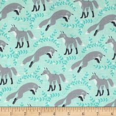 Michael Miller Les Amis Socks The Fox Aqua from @fabricdotcom  Designed by Patty Sloniger for Michael Miller Fabrics, this fabric is perfect for quilting, craft projects, apparel and home décor accents. Colors include grey, black, white and teal on an aqua background.