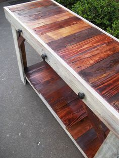 Handcrafted, reclaimed pallet table | entry table | sofa table | reclaimed wood furniture. --- ** QUICK INFO ** -- Wood Type: Multi