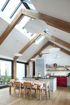 Character A solid oak floor - Shepherd's Cottage - Helen Lucas Architect . - Character A solid oak parquet – Shepherd's Cottage – Helen Lucas Architects – i - A Frame House, House Extensions, Open Plan Kitchen, Interior Architecture, Building A House, Building Homes, House Plans, New Homes, House Design