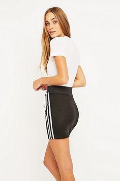 adidas - Minijupe noire à trois bandes