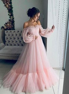 Makeup Looks Discover Off the shoulder dress for wedding guest fluffy tulle dress for women with corset floor length maxi dress formal off shoulder gown any color Girls Pageant Dresses, Women's Dresses, Baby Girl Dresses, Princess Dresses, Fashion Dresses, Summer Dresses, Puffy Dresses, Colorful Prom Dresses, Casual Dresses