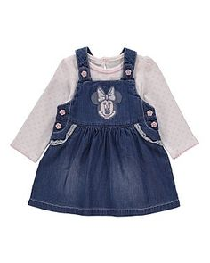 Disney Minnie Mouse Pinafore Dress and Top Set