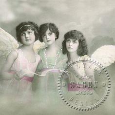 Tre änglar - Middagsservett