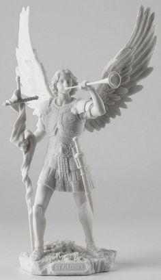 Saint Gabriel Archangel with Messengers Trumpet Statue