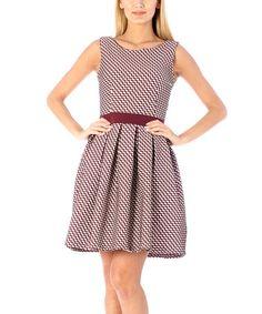 Purple Zigzag Fit & Flare Dress #zulily #zulilyfinds
