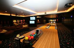 This indoor bowling alley is awesome!