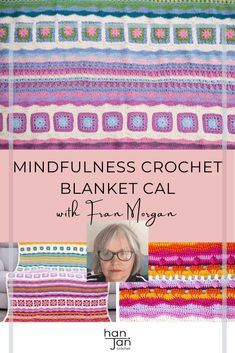 HanJan Crochet talks to Fran Morgan about the Mindfulness Crochet Blanket CAL, becoming a crochet designer, top crochet tips and more in this interview and free crochet pattern article. #freecrochetpattern #crochetdesign #mindfulcrochet Crochet Jumper, Chunky Crochet, Simply Crochet, Free Crochet, Wool Shop, Mother Teach, Crochet Blanket Patterns, Crochet Designs, Interview