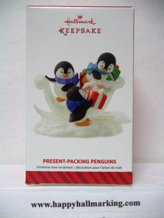 2014 Penguines Penguin Ornaments, Hallmark Ornaments, Decoration, Penguins, Bookends, Presents, Packing, Play, Christmas Trees
