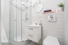 """Love them or hate them, there's no denying that these """"Subway"""" are used to create effect in this contemporary bathroom design! Tiles - Biselado Bevelled White available at Sabbini & Co. Contemporary Bathroom Designs, Metro Tiles, Fabric Wall Art, Easy Install, White Bathroom, Wall Tiles, Wall Murals, Teak, Luxury Homes"""