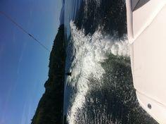 Kneeboarding Shuswap Lake