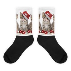 These socks will give you maximum comfort and style simultaneously! The top of the sock is printed, the bottom portion is solid black, and each sock is printed individually in the USA. • Thick ribbing, which provides a secure fit • Cushioned for maximum comfort • Bold, crisp colors that won't fade • 60% Nylon, […]